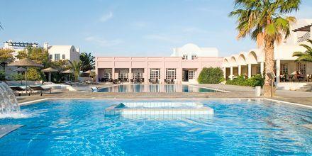 Poolen på hotel 9 Muses Resort på Santorini, Grækenland.