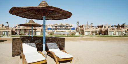 Stranden ved Hotel Shams Prestige Abu Soma.