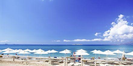Stranden ved Hotel Aegean Land på Naxos i Grækenland.