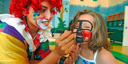 Børneklub på Hotel Aegean View Aqua Resort på Kos, Grækenland.