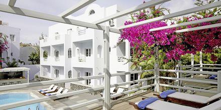 Hotel Afrodite i Kamari på Santorini, Grækenland.