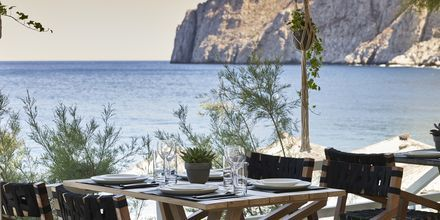 Restaurant Mesogaia på Hotel Afrodite i Kamari på Santorini, Grækenland.