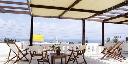 Terrasse på Hotel Agapi på Kreta, Grækenland.