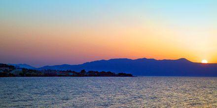 Stranden ved Agia Marina på Kreta, Grækenland.