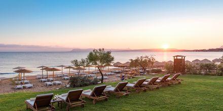 Stranden ved Hotel Santa Marina Beach i Agia Marina på Kreta, Grækenland.