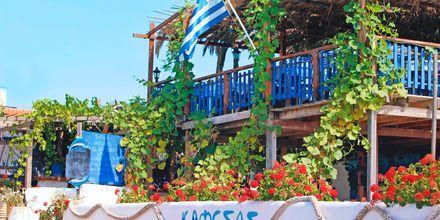 Restaurant Kafesas i Agios Georgios på Korfu, Grækenland.