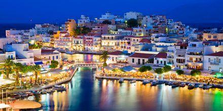 Udsigt over Agios Nikolaos på Kreta, Grækenland.