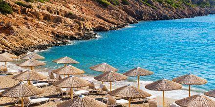 Stranden ved Agios Nikolaos på Kreta, Grækenland.