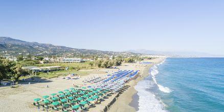 Stranden ved Hotel Akti Chara på Kreta, Grækenland