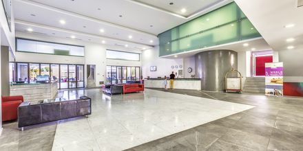 Lobby på Hotel Akti Palace i Kardamena på Kos, Grækenland.