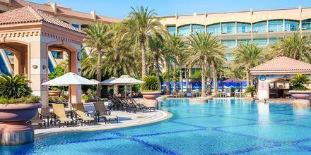 Poolområdet på hotel Al Raha Beach i Abu Dhabi, De Forenede Arabiske Emirater.