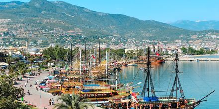 Havnen i Alanya, Tyrkiet.
