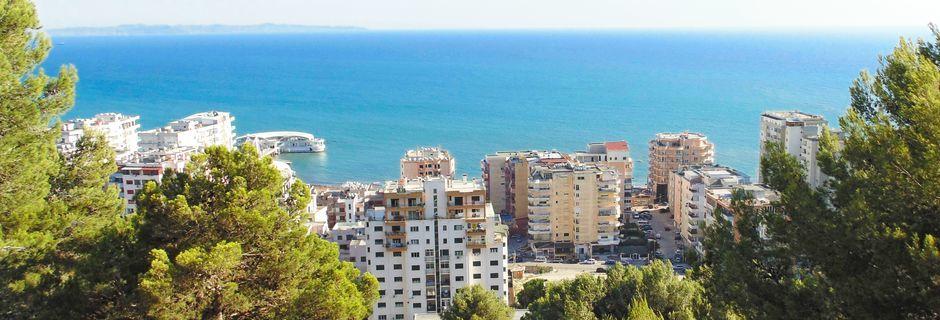 Durres Riviera, Albanien.
