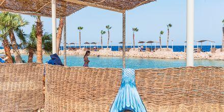 Stranden ved Hotel Albatros Citadel Resort i Sahl Hasheesh, Egypten.