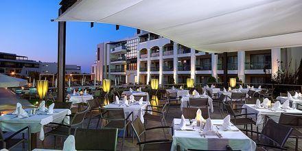 Udendørs restaurant på Albatross Hotel & Spa i Hersonissos på Kreta, Grækenland