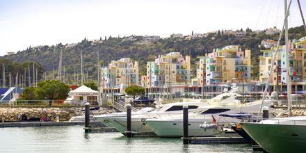 Marina i Albufeira på Algarvekysten, Portugal.