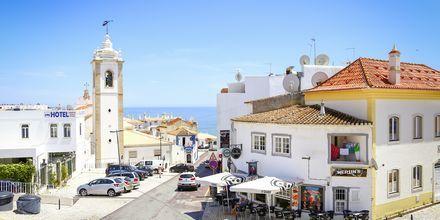 Den gamle by i Albufeira på Algarvekysten, Portugal