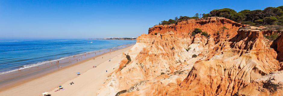 Falesia Beach i Albufeira, Portugal.