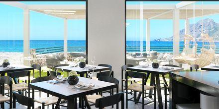 Skitsetegning på restaurant på Hotel Alegria Beach Resort i Plakias på Kreta, Grækenland.