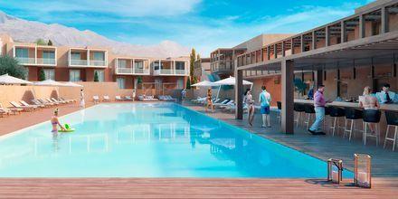 Skitsetegning af pool på Hotel Alegria Beach Resort i Plakias på Kreta, Grækenland.