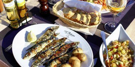 Grillede sardiner