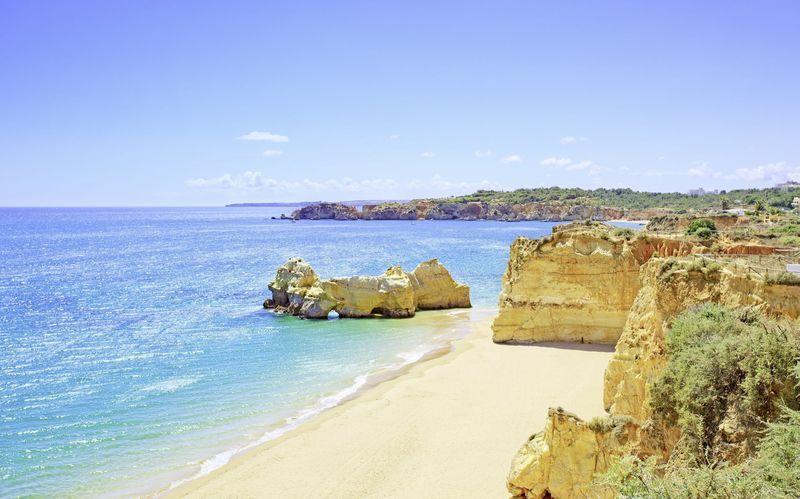 Praia da Rocha på Algarvekysten, Portugal