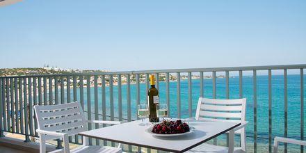 Havudsigt fra værelse på Hotel Alia Beach i Hersonissos, Kreta, Grækenland.