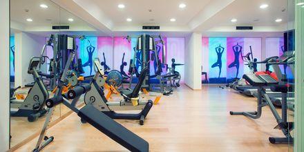 Fitness på hotel Alimounda Mare på Karpathos, Grækenland.