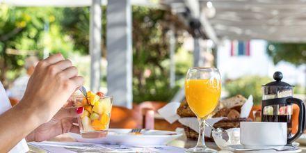 Morgenmad på Hotel Alinda på Leros i Grækenland.