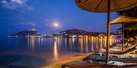 Stranden ved Hotel Alinda på Leros i Grækenland.