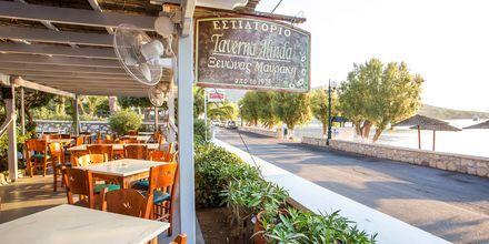 Restaurant på Hotel Alinda på Leros i Grækenland.