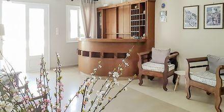 Reception på Hotel Alkyon i Kamari, Santorini.