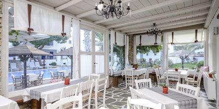 Restaurant på Hotel Alkyoni Beach i Naxos by, Grækenland.