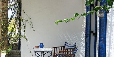 Hotel Alkyoni Beach i Naxos by, Grækenland.