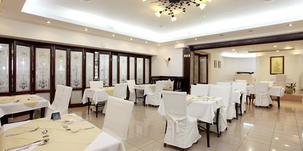 Restaurant på Hotel Almyrida Beach på Kreta, Grækenland.