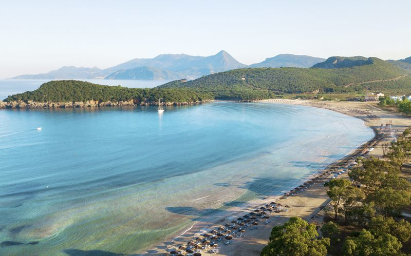Strand i Ammoudia, Grækenland