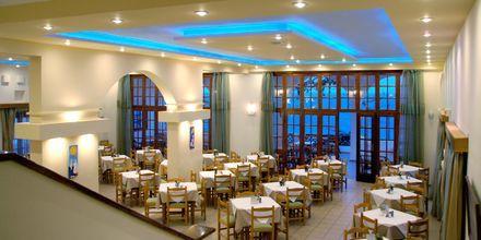 Morgenmadsrestaurant på Hotel Amopi Bay på Karpathos, Grækenland.