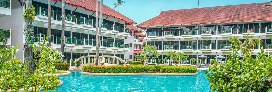 Poolområde på Amora Beach Resort i Bangtao Beach, Phuket