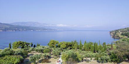 Udsigt fra Hotel Andromeda på Samos, Grækenland.