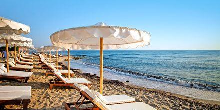 Stranden ved Hotel Laguna Resort & Spa i Anissaras på Kreta.