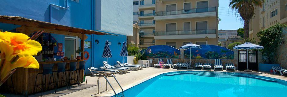 Pool på Hotel Annapolis i Rhodos by på Rhodos, Grækenland