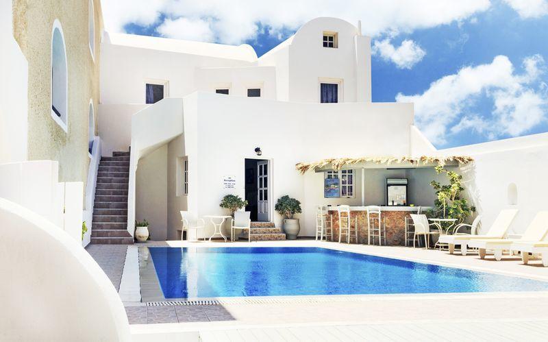 Anthea Villas i Perivolos & Perissa på Santorini, Grækenland