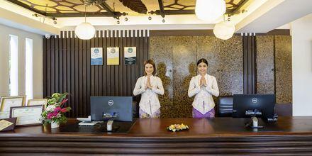 Reception på Aonang Princeville Villa Resort & Spa i Krabi, Thailand.