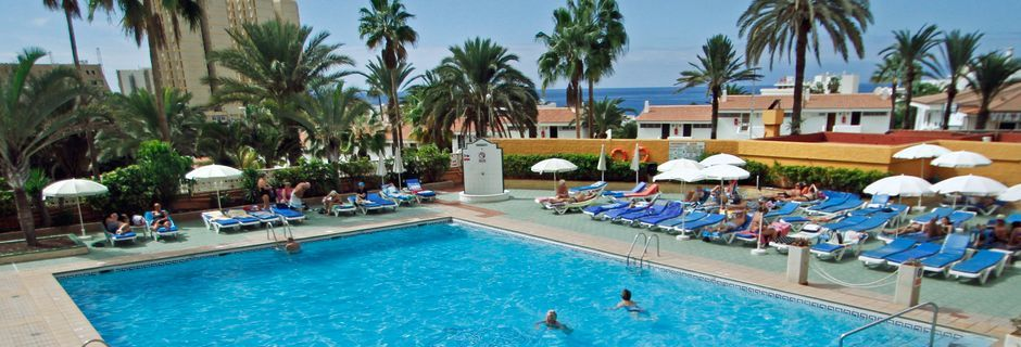 Pool på Hotel Apartments Caribe i Playa de las Americas på Tenerife.