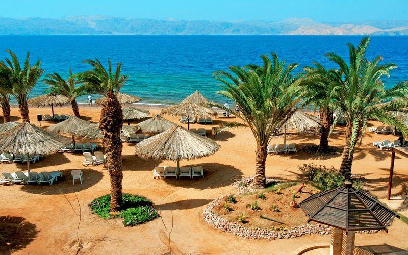 Smukke strande i Aqaba i Jordan.