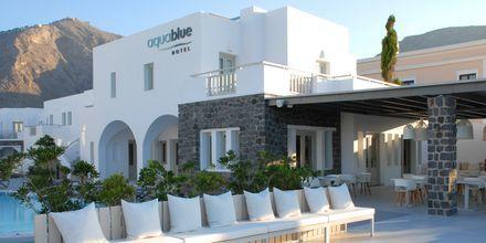 Hotel Aqua Blue i Perissa på Santorini.