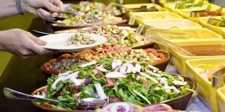 Salatbuffet på Aqua Vista i Hurghada, Egypten.