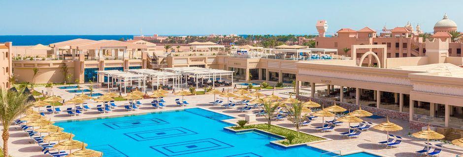 Poolområdet på Aqua Vista i Hurghada, Egypten.