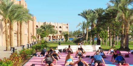 Yoga på Aqua Vista i Hurghada, Egypten.