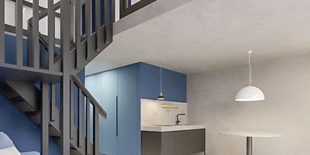 2/3-værelses lejligheder i etage på Hotel Aquarius i Rethymnon